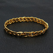 Uwin New Copper Gold Color Cuban Circle Link Bracelet With Clear Rhinestones 9mm Fashion Men Hiphop Jewelry Gifts Drop Shipping