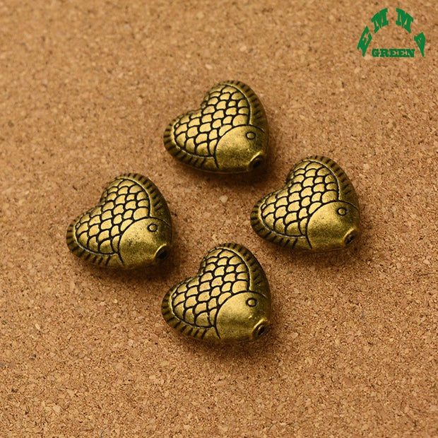 Various Design Jewelry Findings Metal Vintage 3D Goldfish Fish Spacer Beads Butterflyfish Charms Pendant Handmade Crafts For DIY