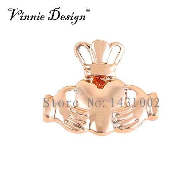 Vinnie Design Jewelry Claddagh Slide Charms Keys For Keeper Bracelet 10pcs/lot