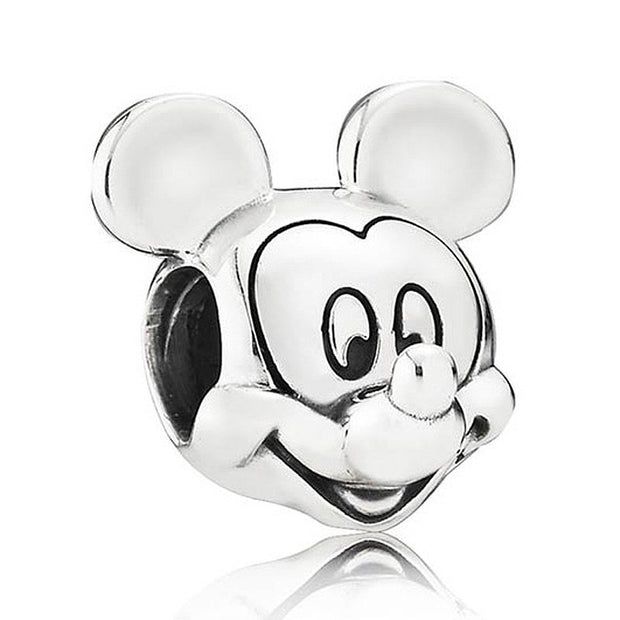 Vintage Cute Donald & Daisy Duck Mickey & Minnie Mouse Portrait Beads Fit Pandora Bracelet 925 Sterling Silver Charm Diy Jewelry