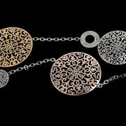 Vintage Women Necklaces&Pendants Gold Silver Plated Round Flower Long Statement Necklace Fashion Jewelry SNE150001