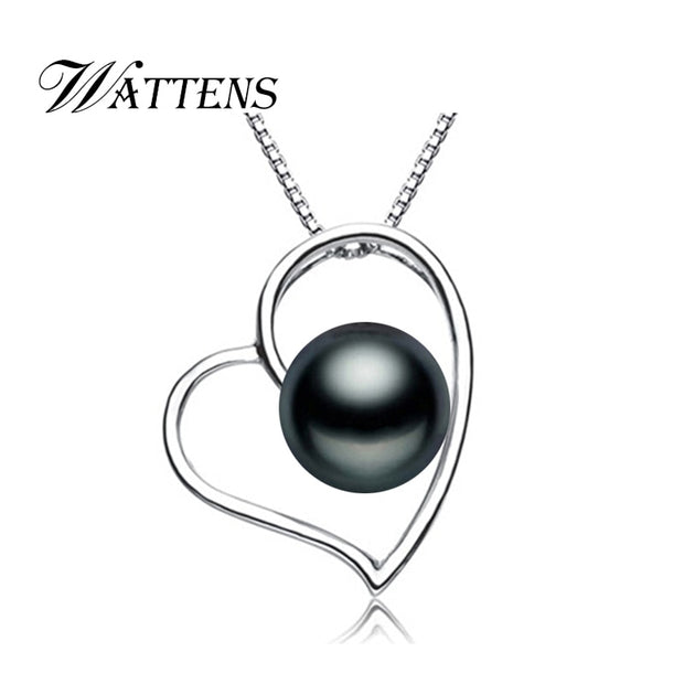WATTENS 2018 New Alibaba Romantic Pearl Jewelry,natural Pearl Pendant Necklace, Heart Necklace For Women Accessories Love Gift