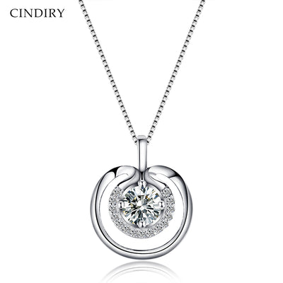 Waiting For Time Romantic Pendant 925 Sterling Silver Luxury Necklace Femme Jewelry Gifts For Mother's Day