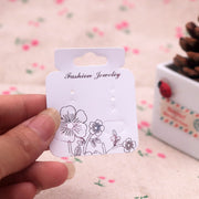 White Plastic Earring Display Cards 200pcs/lot Plastic Jewelry Dispaly Tags/Cards Earring Packing Cards