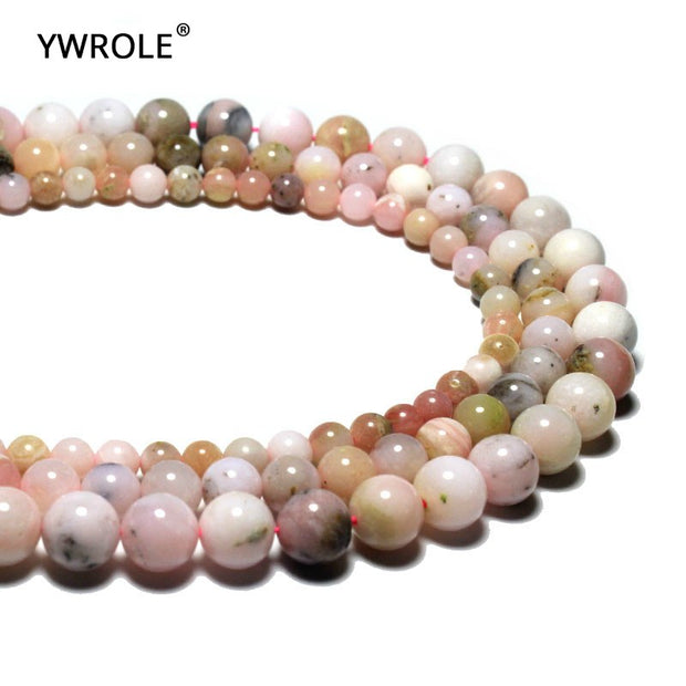 Wholesale 100% Natural Imported Pink Opal Gem Stone Beads For Jewelry Making DIY Bracelet Necklace 6/8/10 Mm Strand 15'' Lots