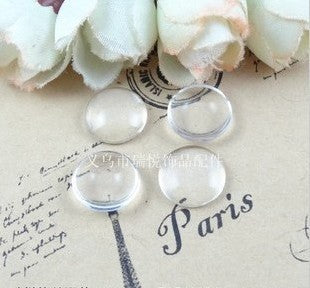 Wholesale DIY 12*12mm Clear Transparent Domed Round Flat Back Crystal Magnifying Glass Cabochon Fit Cameo Settings 100pcs A1697