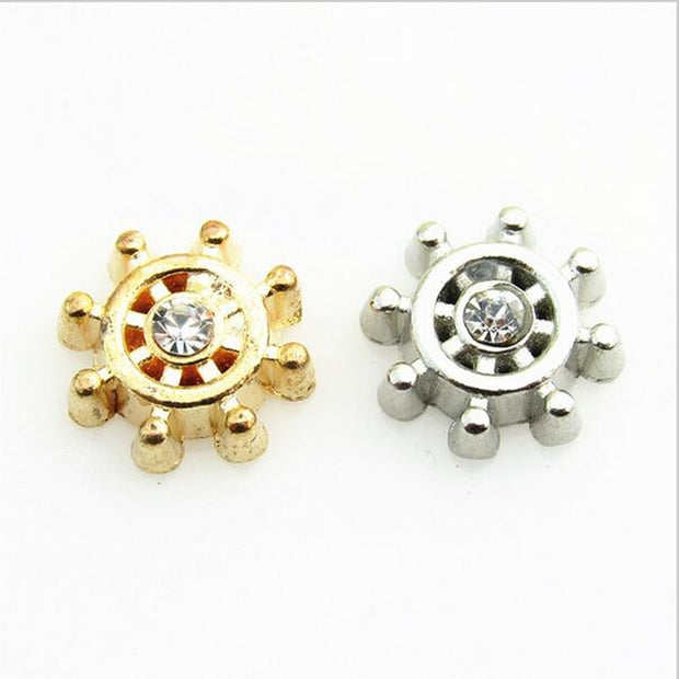 Wholesale Gold And Silver Rudder Floating Charms Living Glass Memory Lockets Floating Charm DIY Jewelry 50pcs/lot