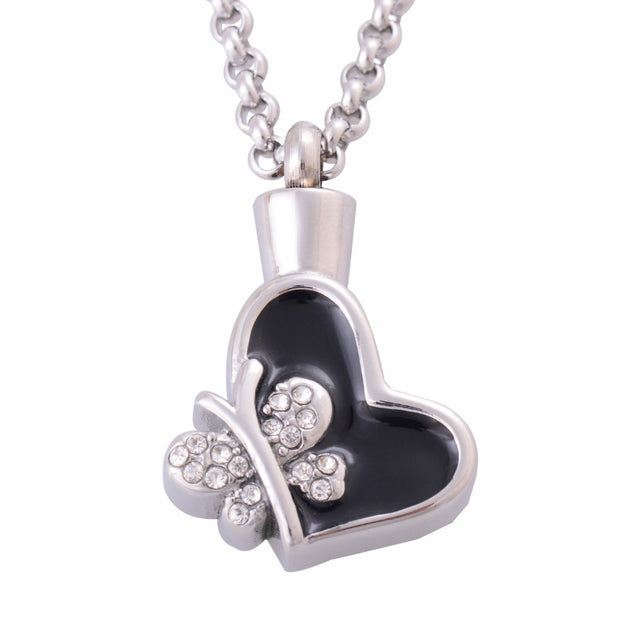Women Claddagh Cremation Urns Pendant Necklace 316L Stainless Steel Memory Jewelry Hair Warter Ashes Urns Keepsake 1036