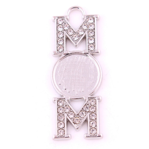 Women Pendant Necklace Letter MOM Shape Great Choose For Mother's Day Birthday Rhodium Plated Provide Dropshipping