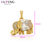 Xuping European Style Elephant Shaped Jewelry For Women Girls Cute Pendant Mother's Day Gifts S105,7-34554