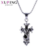 Xuping Fashion Cool Snake Shape Necklace Pendant Stainless Steel Jewelry For Neutral Halloween Gifts M45-30143