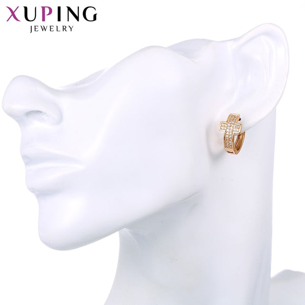 Xuping Fashion Elegant Charm Style Earrings Hoops Gold Color Plated For Women Mother's Day Gifts S85-20125
