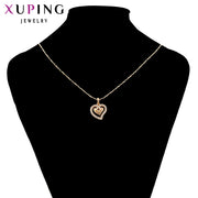 Xuping Fashion Jewelry Heart Shaped Necklace Pendant For Women Girls New Arrival Cute Romantic Mother's Day Gifts S93.3-34015