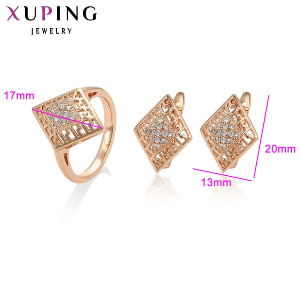 Xuping Fashion Jewelry Sets Fantastic Charm Women Sets Rose Gold Color Plated Mother's Day Gifts S93-64960