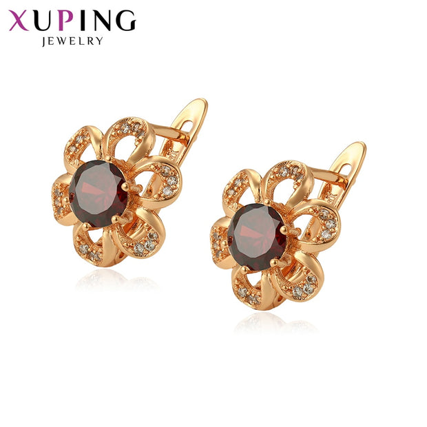 Xuping Jewelry New Popular Multi-color Available Star-inlay Gold-color Earrings For Women Christmas Gift S121.7-9728