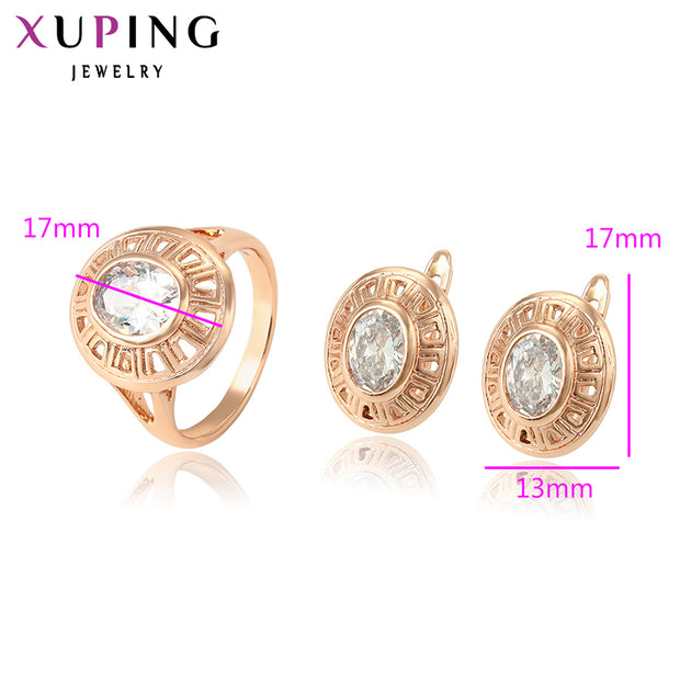 Xuping New Style Fashion Jewelry Sets High Quality Temperament Ladies Jewelry For Women Mother's Day Gift S99-65018