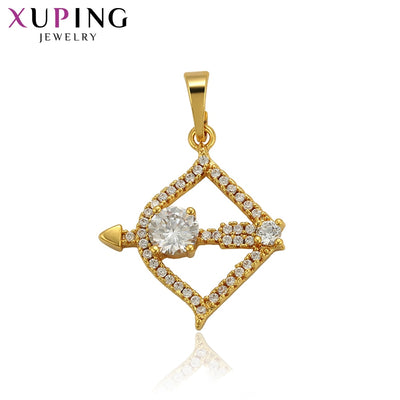 Xuping Pendant For Women Pure Gold Color Plated New Arrival Jewelry Peace Shaped Mother's Day Gifts S105,7-34557