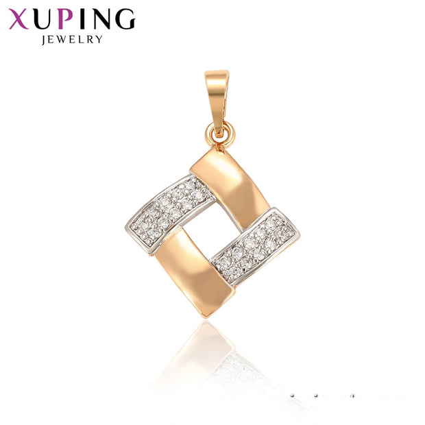 Xuping Square Shaped Pendant Environmental Copper Jewelry For Women Beauty Mother's Day Gifts S60.2-34584
