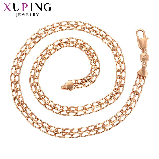 Xuping Trendy Necklace Charm Style Rose Gold Color Plated For Women Men Valentine's Day Jewelry Gifts S115,7-45052