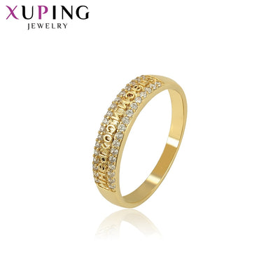 Xuping For Ladies Rings Light Yellow Gold Color Plated Jewelry Thanksgiving Mother's Day Gifts S132,6-15927