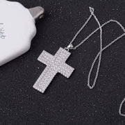 YAN MEI New Woman Luxury Jewelry Clear Cubic Zirconia Cross Necklace GLD0312