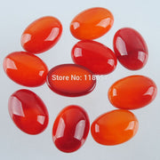 YOWOST Free Shipping Red Carnelian Gem Stones Oval 10x14x5MM No Hole Cabochon CAB 20pcs/Lot For Making Jewelry IU3051