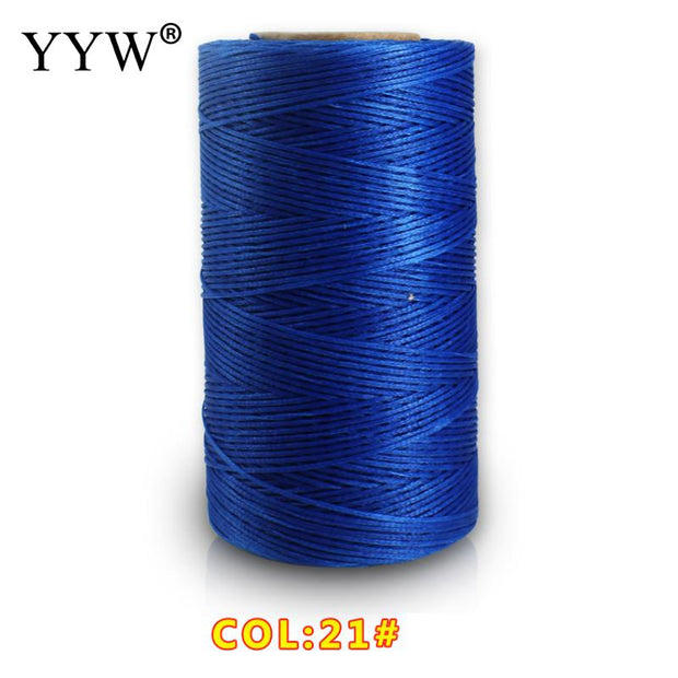 YYW Wholeslae 0.8mm Polyester Cord Plastic Spool 48x101x31mm Approx 260m/Pc For DIY Jewelry Making Accessory