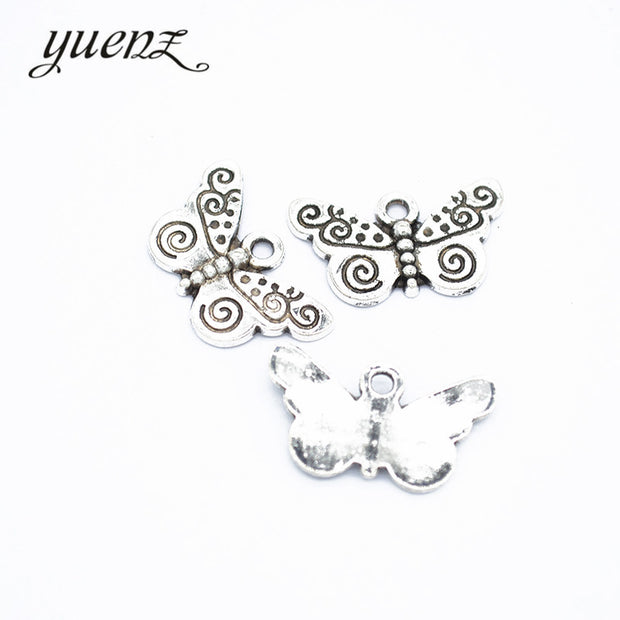 YuenZ 70pcs Antique Butterfly Charms Metal Pendants For Jewelry Making Bracelet Necklace 22*12mm D279
