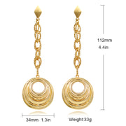 ZEADear Jewelry Fashion Jewelry Round Ball Earrings Long Drop Dangle Earrings For Women Copper Earrings For Party Wedding Daily