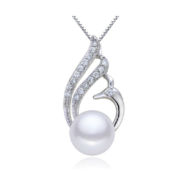 ZHBORUINI 2019 Pearl Necklace Natural Freshwater Pearl Phoenix Jewelry Pendants 925 Sterling Silver Jewelry For Women Gift