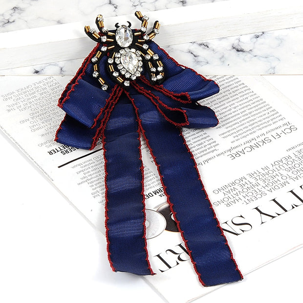 ZHINI New Fashion Vintage Navy Spider Shape Decorated Brooch Ties Necktie Corsage Brooches Clothing Dress Accessories Wholesale
