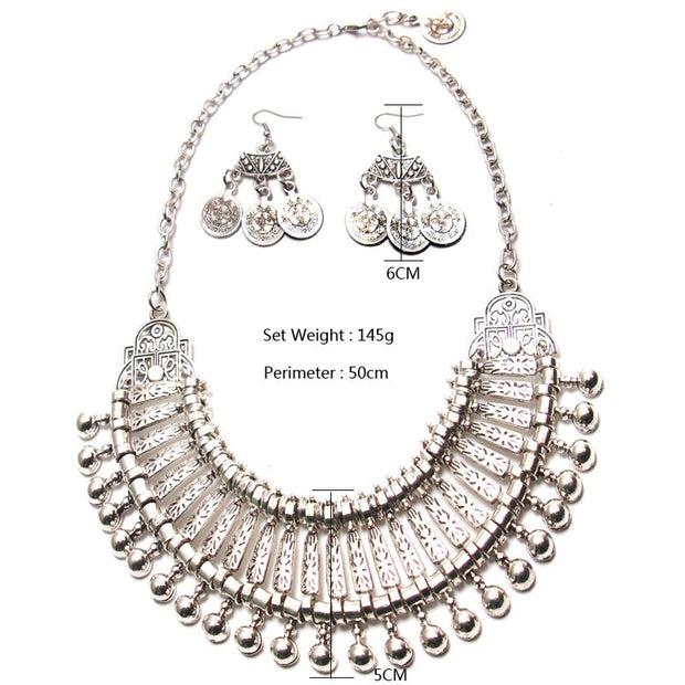 Ztech Classic Coin Jewelry Sets High Quality Statement Necklaces & Earring Set Top Elegant New Arrival Christmas Gifts Wholesale