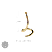 Amorita Boutique Tail Ring Opening Ring