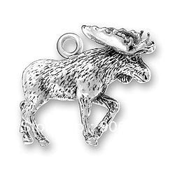 Antisilver Alloy Moose Jewelry Charm