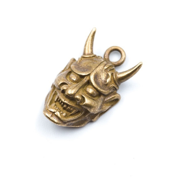 Coppertist.wu Brass Japanese Hannya Ghosts And Monsters Metal Key Chains Accessory Jewelry Key Chains Holder Men Keychain