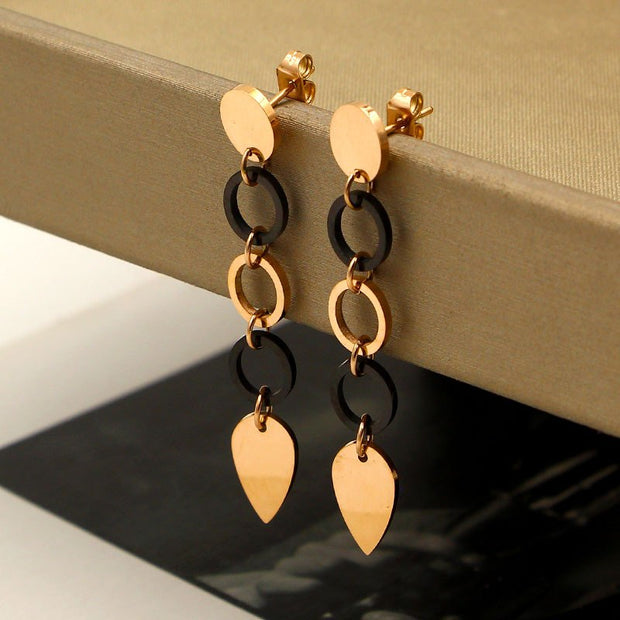 Hear Hollow Out Trendy Gold Sliver Color Earrings Stainless Steel Jewelry Fashion Earring Dangle Drop Earring For Wome