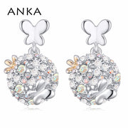 Wholesale Earrings Woman Crystal Flower Shape Earrings Made With Czech Crystals For Mother's Day Gift #116077