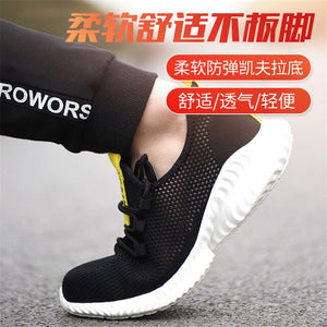 Safety Work Shoes 2019 New Design Steel Head Men's Breathable Lightweight Steel Toe Safety Shoes Summer