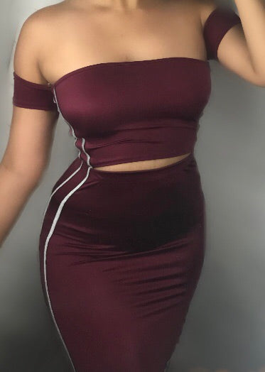 Metallic set (burgundy)