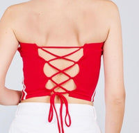 Contrast top red