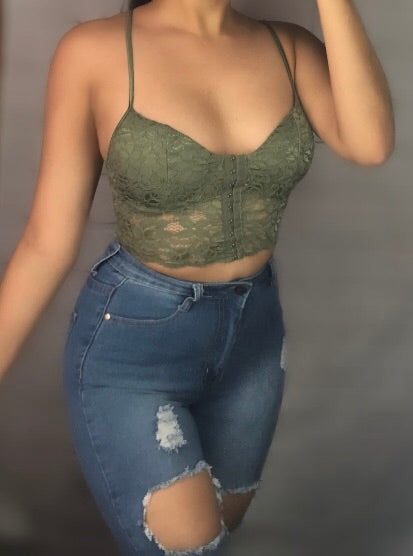 Hook bralette green