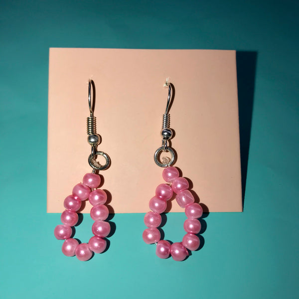 Bubble gum earrings