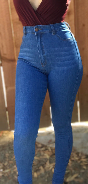 High waisted jeans (blue)