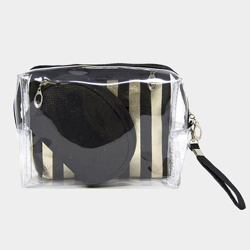 Stripe Pouch Set