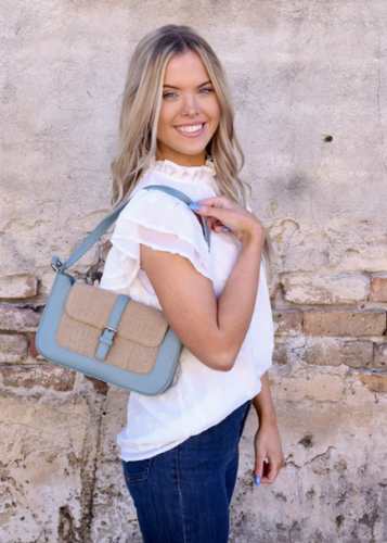 Aretha Shoulder Bag - Dusty Blue