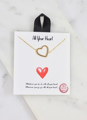 All your heart necklace gold