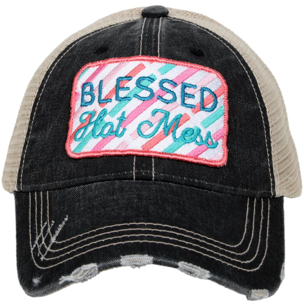 Blessed Hot Mess black