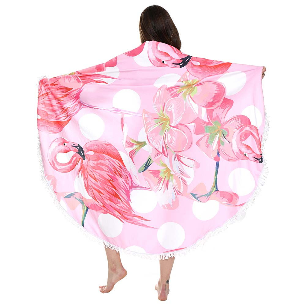 Flamingo Tassel Towel