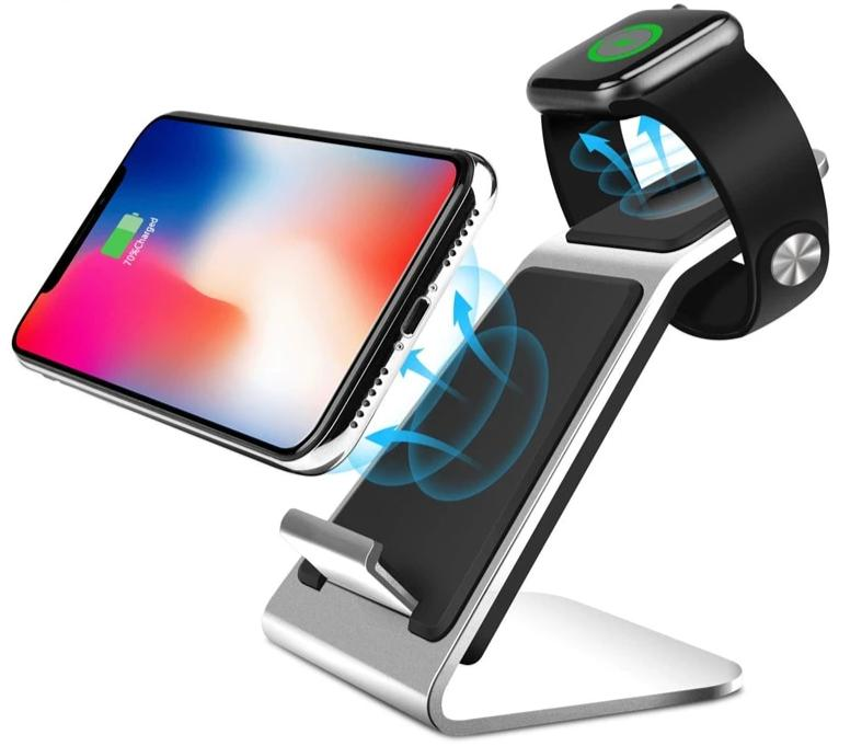 Wireless Charger for iPhone, Apple Watch, Samsung Galaxy Samsung watch