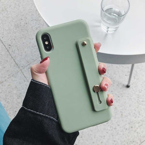 Wrist Strap Phone Case For iPhone